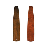 Kichler 371027 Signature Distressed Walnut 30 inch each Fan Blade Set, Carved Wood