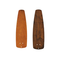 Signature Walnut 21 inch each Fan Blade Set, Carved Wood