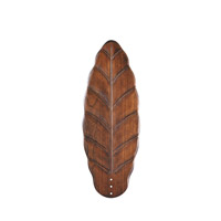 Kichler 371051 Signature Walnut 30 inch each Fan Blade Set, Carved Wood