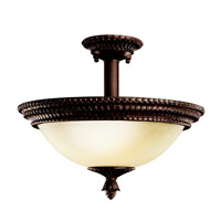 Kichler Lighting Larissa 2 Light Semi-Flush in Tannery Bronze w/ Gold Accent 3713TZG photo thumbnail