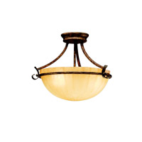Kichler Lighting Northam 3 Light Semi-Flush in Lincoln Bronze 3724LBZ photo thumbnail
