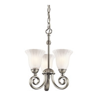 Kichler Lighting Willowmore 3 Light Chandelier in Brushed Nickel 3728NI