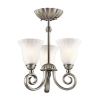 Kichler 3728NI Willowmore 3 Light 11 inch Brushed Nickel Chandelier Ceiling Light alternative photo thumbnail