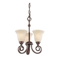 Kichler 3728TZ Willowmore 3 Light 11 inch Tannery Bronze Chandelier Ceiling Light