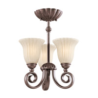 Kichler Lighting Willowmore 3 Light Chandelier in Tannery Bronze 3728TZ