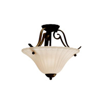 Kichler 3729TZ Willowmore 1 Light 17 inch Tannery Bronze Semi-Flush Ceiling Light