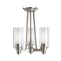 Kichler Lighting Circolo 3 Light Semi-Flush in Brushed Nickel 3743NI photo thumbnail