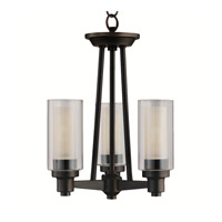 Kichler 3743OZ Circolo 3 Light 13 inch Olde Bronze Semi-Flush Ceiling Light