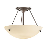 Kichler Lighting Signature 1 Light Fluorescent Semi Flush in Olde Bronze 3752OZFL