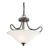 Kichler 3757OZ Stafford 2 Light 16 inch Olde Bronze Semi-Flush Ceiling Light alternative photo thumbnail