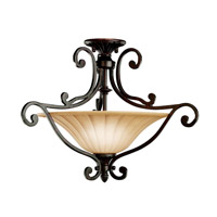 Kichler Lighting Cottage Grove 2 Light Semi-Flush in Carre Bronze 3758CZ