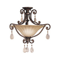 Kichler Lighting Cottage Grove 2 Light Semi-Flush in Carre Bronze 3758CZ alternative photo thumbnail