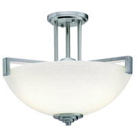 Kichler 3797NIL16 Eileen 3 Light 17 inch Brushed Nickel Inverted Pendant Ceiling Light in LED, Satin Etched Cased Opal, Dimmable