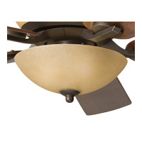 Olympia 3 Light Olde Bronze Fan Light Kit in Sunset Marble Glass