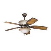 Kichler Lighting Golden Iridescence 3 Light Fan Light Kit in Oiled Bronze 380002OLZ