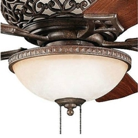 Cortez 3 Light Tannery Bronze Fan Light Kit