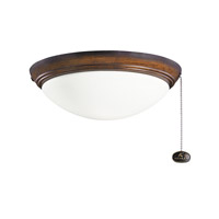 Kichler Basic Low Profile 2 Light Fan Light Kit in Mediterranean Walnut 380020MDW