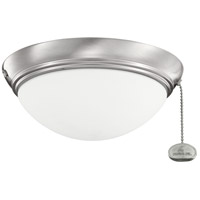 Kichler Lighting Basic Low Profile Fixture 30-3 Fan Light Kit in Brushed Stainless Steel 380120BSS
