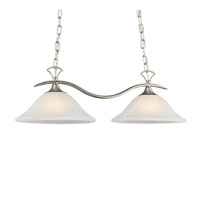Kichler Lighting Telford 2 Light Island Light in Brushed Nickel 3802NIA