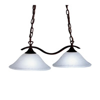 Kichler Lighting Dover 2 Light Island Light in Tannery Bronze 3802TZ