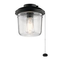 Kichler 380915SBK Yorke 1 Light Satin Black Fan Light Kit