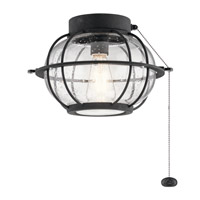Bridge Point 1 Light Distressed Black Fan Light Kit