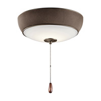 Signature LED Satin Natural Bronze Fan Light Kit, with Bluetooth Speaker