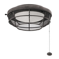 Signature 1 Light Weathered Zinc Fan Light Kit