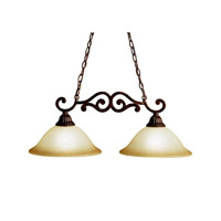 Kichler Lighting Larissa 2 Light Island Light in Tannery Bronze w/ Gold Accent 3813TZG photo thumbnail
