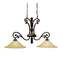 Kichler Lighting Cheswick 2 Light Island Light in Parisian Bronze 3818PRZ photo thumbnail