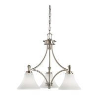 Kichler Lighting Wharton 3 Light Chandelier in Brushed Nickel 3821NI