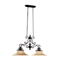 Kichler Lighting Cottage Grove 2 Light Island Light in Carre Bronze 3857CZ photo thumbnail