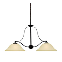 Kichler Lighting Langford 2 Light Island Light in Canyon Slate 3882CST photo thumbnail