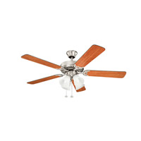 Kichler 402NI7 Basics Revisited 52 inch Brushed Nickel with Walnut MS-97503 Blades Fan in White Etched Single Rib alternative photo thumbnail