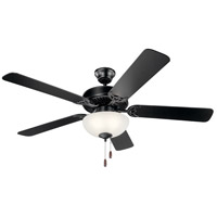 Kichler 403SBK Basics 52 inch Satin Black Indoor Ceiling Fan
