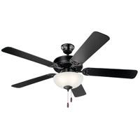 Kichler 403SBK Basics 52 inch Satin Black Indoor Ceiling Fan