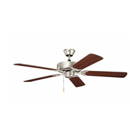 Kichler 404NI7 Basics Revisited 52 inch Brushed Nickel with Walnut MS-97503 Blades Fan