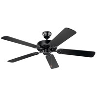 Kichler 404SBK Basics 52 inch Satin Black with Black Blades Indoor Ceiling Fan