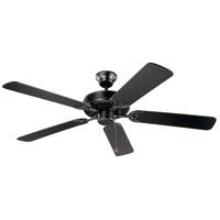 Kichler 404SBK Basics 52 inch Satin Black with Black Blades Indoor Ceiling Fan