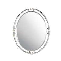 Pocelona 30 X 24 inch Chrome Wall Mirror, Oval