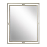 Hendrik 30 X 24 inch Brushed Nickel Wall Mirror Home Decor, Rectangular