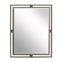 Hendrik 30 X 24 inch Olde Bronze Wall Mirror Home Decor, Rectangular