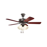 Kichler Basics Revisited 3 Light Fan in Satin Natural Bronze 413SNBU
