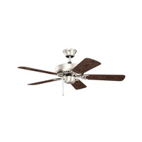 Basics Revisited 42 inch Brushed Nickel with MS-7575 Brown Blades Fan