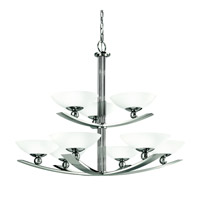 Kichler Lighting Palla 9 Light Chandelier in Polished Nickel 42003PN