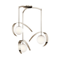 Kichler Lighting Escala 1 Light Pendant in Polished Nickel 42036PN alternative photo thumbnail