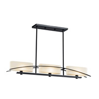Kichler 42017BK Suspension 3 Light 5 inch Black Chandelier Ceiling Light