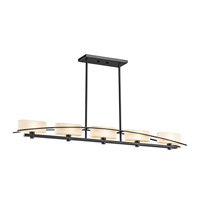 Kichler 42018BK Suspension 5 Light 4 inch Black Chandelier Ceiling Light