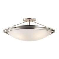 Kichler 42025NI Signature 4 Light 23 inch Brushed Nickel Semi-Flush Ceiling Light