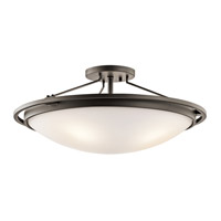 Kichler 42025OZ Signature 4 Light 23 inch Olde Bronze Semi-Flush Ceiling Light